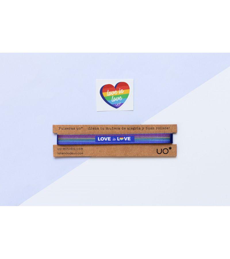 "Pulsera ""Love is Love"""
