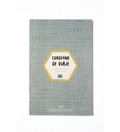 """Cuaderno de viajes """"Mentes inquietas"""" TURQUESA"""