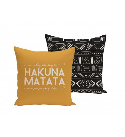 """Funda cojín """"Hakuna Matata"""""""