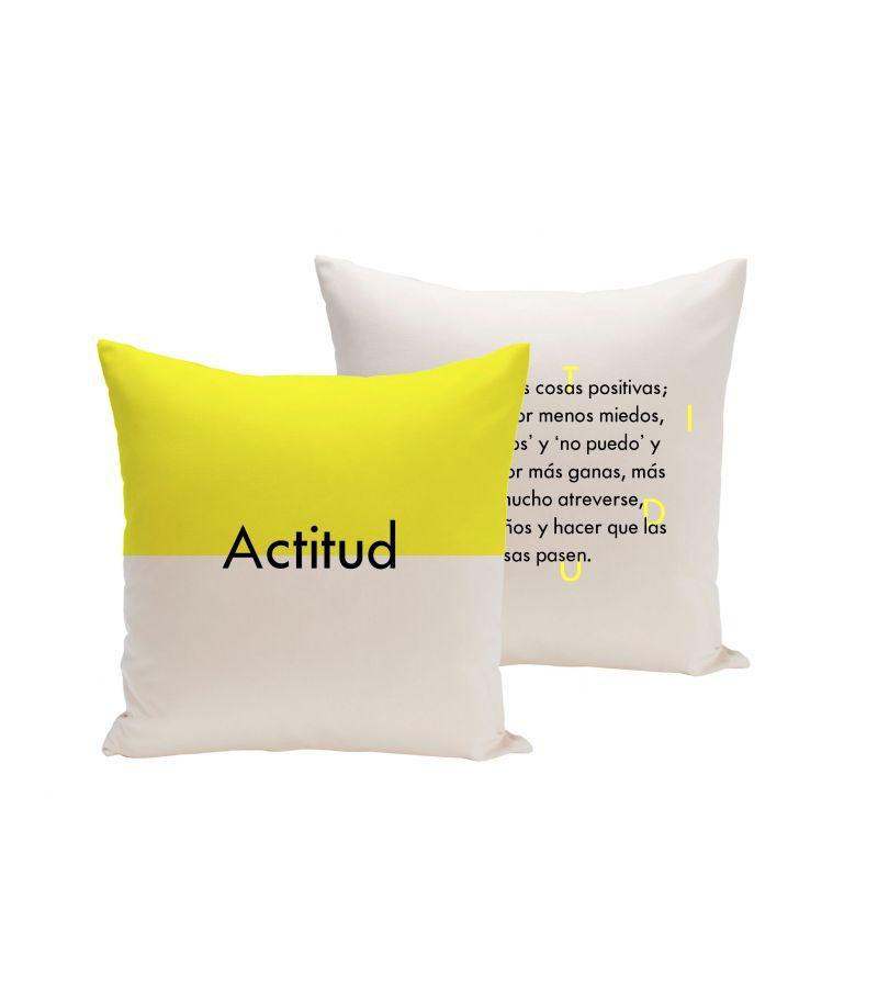 """Funda cojín """"Actitud. Definición"""""""