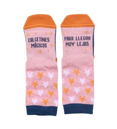 """Mini - Calcetines """"Mágicos para llegar muy lejos"""" Rosa"""