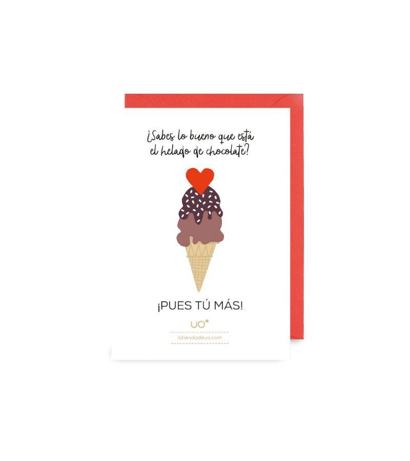"""Postal """"Helado de Chocolate"""""""