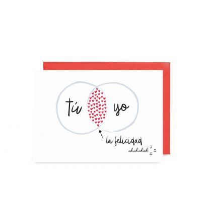 """Postal """"Tú, yo, la felicidad"""""""