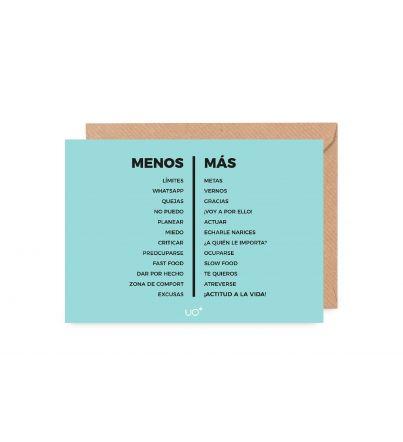 """Postal """"Menos es más"""""""