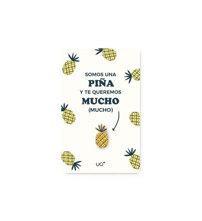 """Postal """"Somos una piña"""" con Pin"""