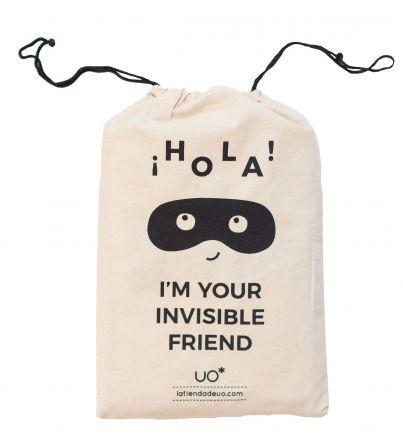 """Bolsa Tela """"Hello I'm your invisible friend"""""""