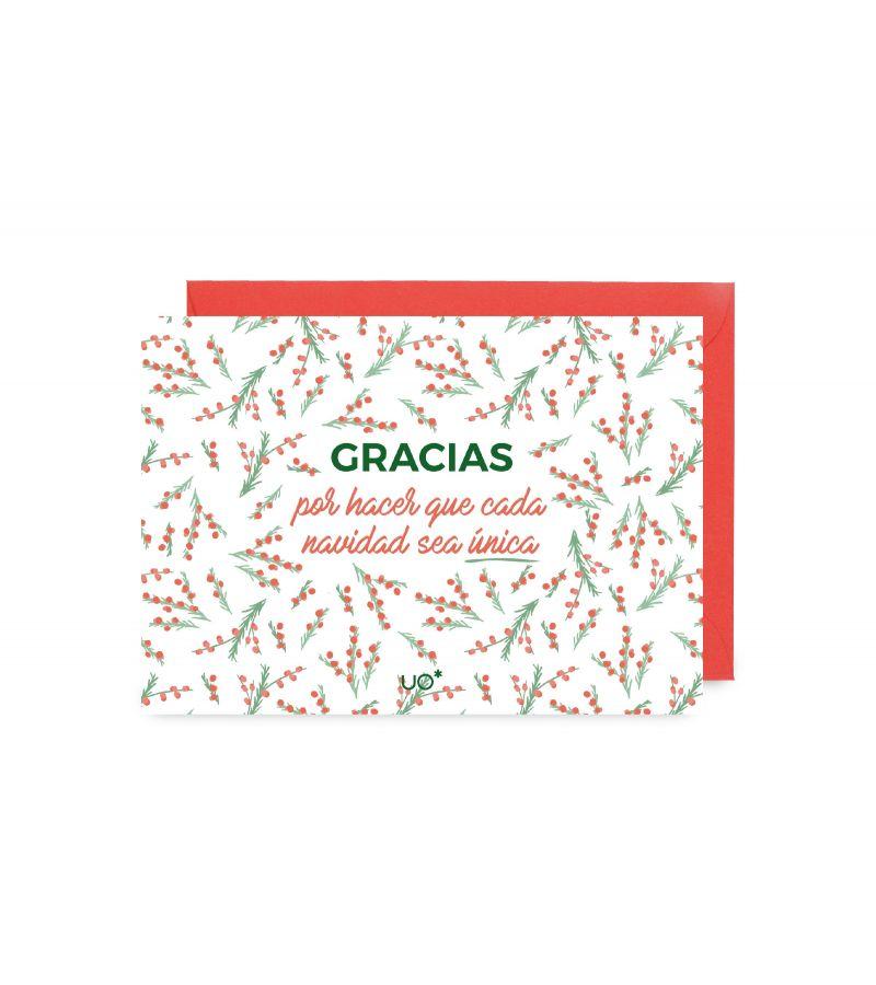 """Postal """"Gracias por hacer que esta Navidad sea única"""""""