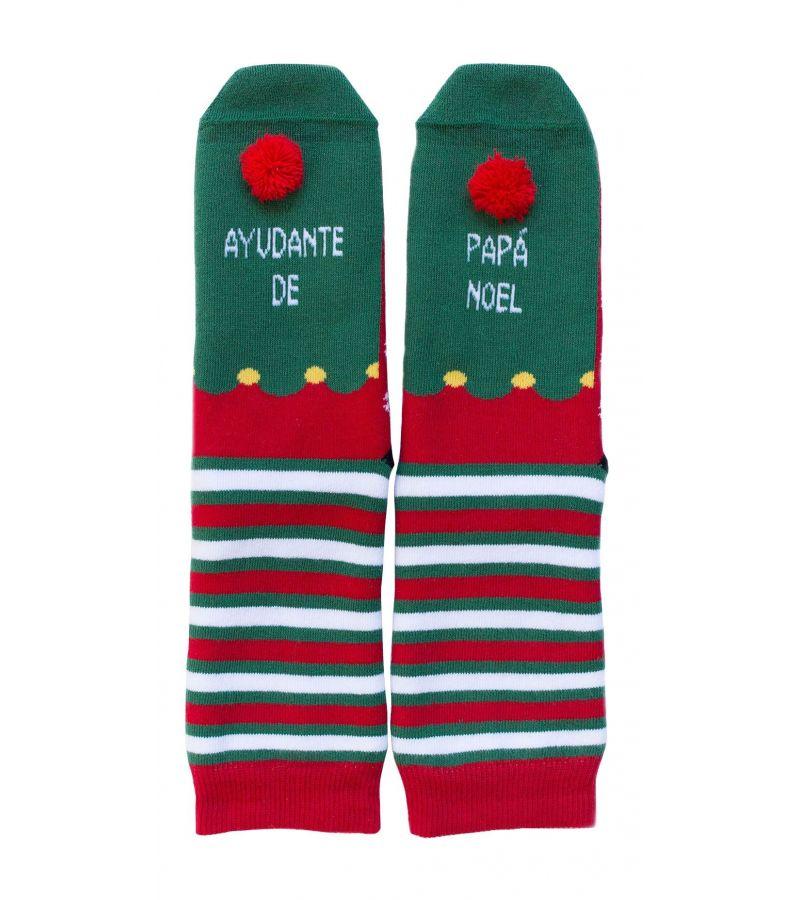 """Calcetines """"Ayudante de papá Noel"""""""