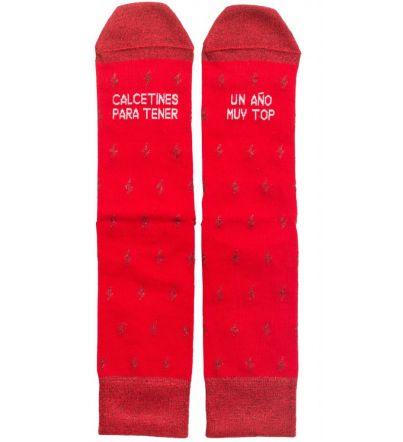 """Calcetines """"Para tener un año top"""" Rojo"""