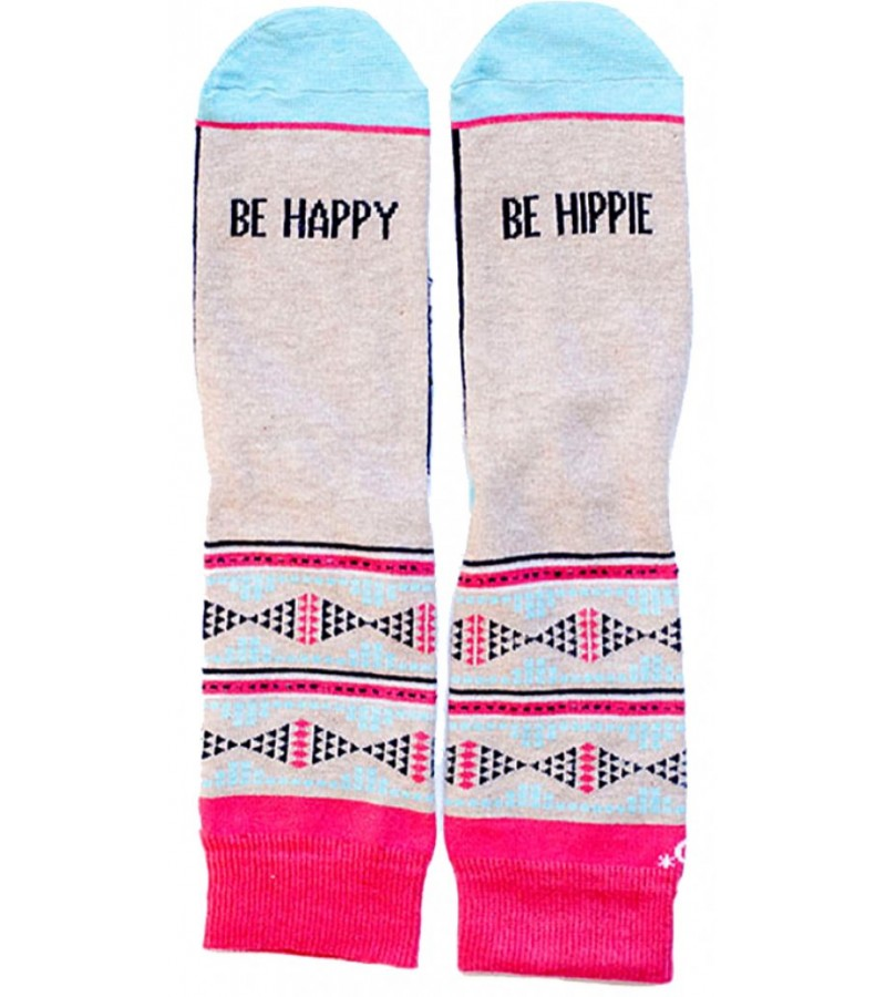 """Calcetines """"Be happy, be hippie"""""""