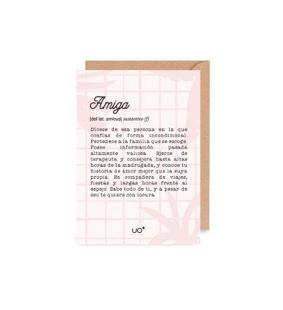 """Postal """"Amiga definición"""""""