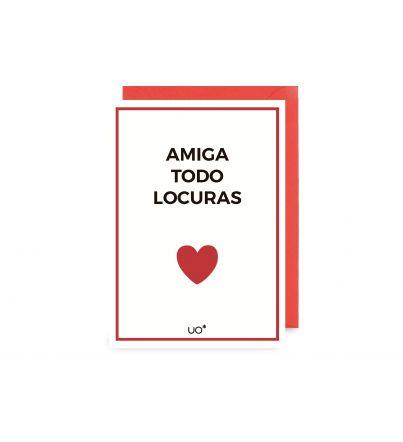 """Postal """"Amiga todo locuras"""""""