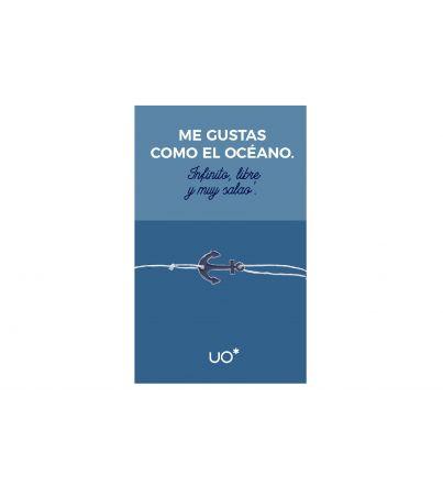 """Pulsera Charm """"Me gustas como el océano"""""""