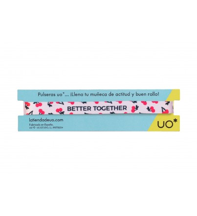 "Pulsera ""Better together"""