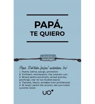 """Pulsera con grabado """"Papá eres el mejor"""""""