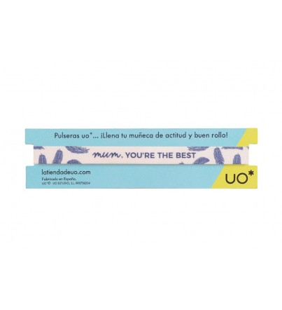 "Pulsera ""Mum you are the best"""