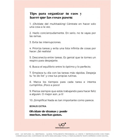 "Descargable ""10 tips organización"""
