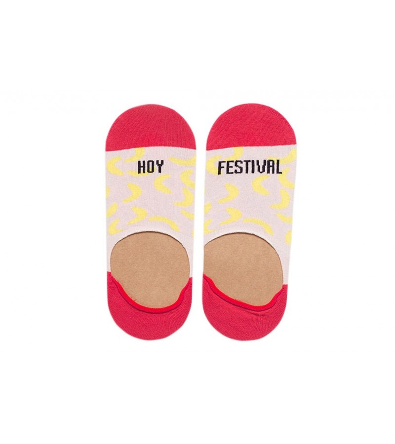 """Calcetines invisibles """"Hoy Festival"""" Rosa"""