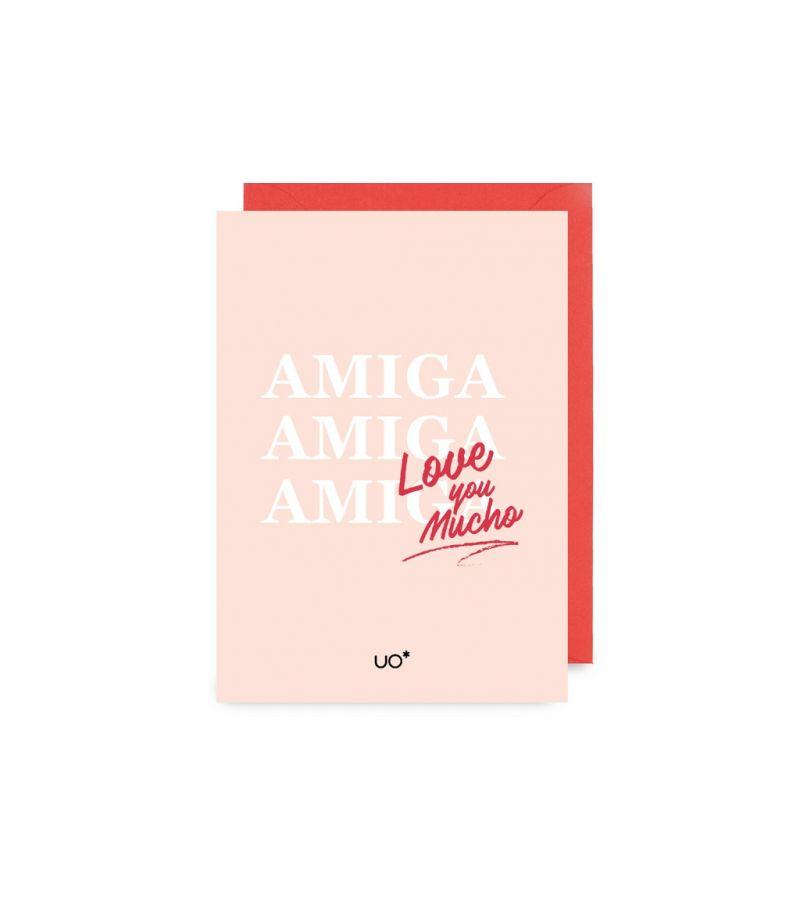 "Postal ""Amiga , love you mucho"""