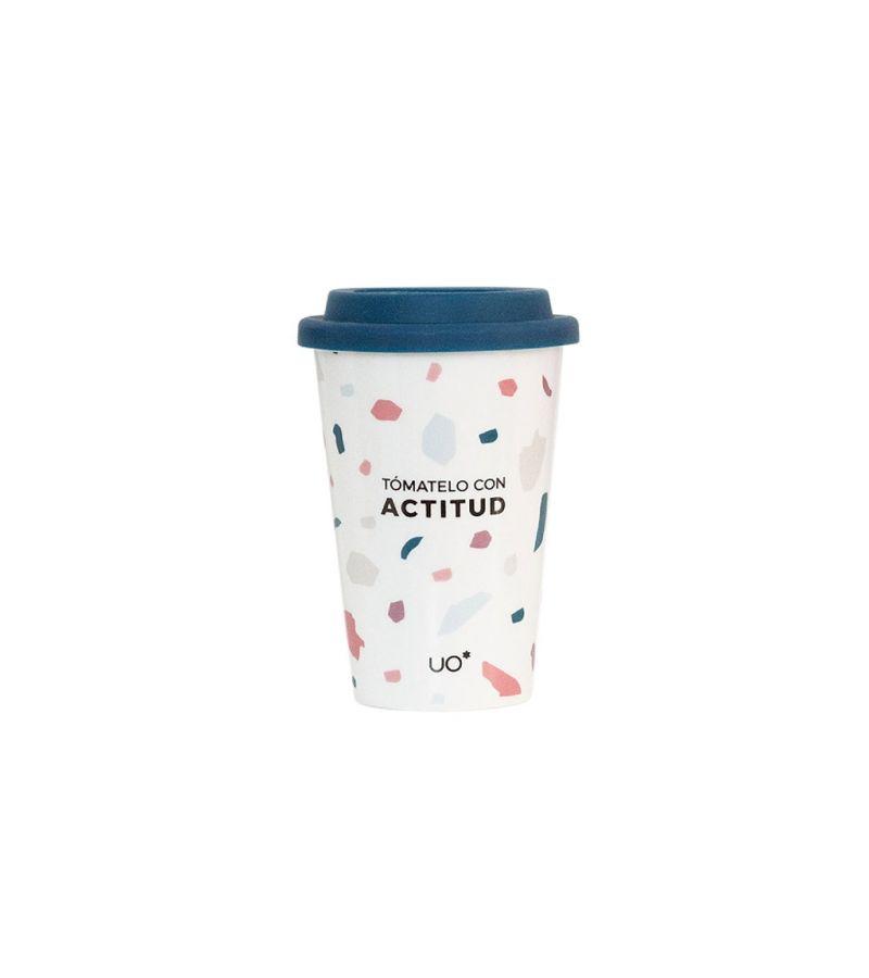 """Vaso cerámica """"Tomatelo con Actitud"""""""