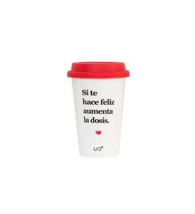 """Vaso cerámica """"Dosis de felicidad"""""""