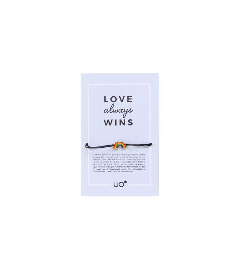 "Pulsera Charm ""Love always wins"""