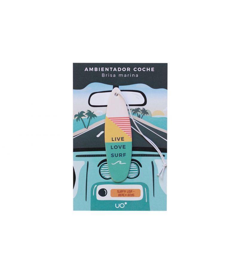"""Ambientador coche """"Live, love, Surf"""""""