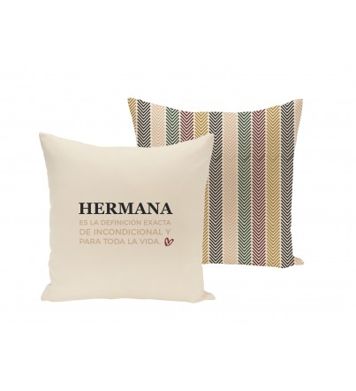 "Funda Cojín ""Hermana"""
