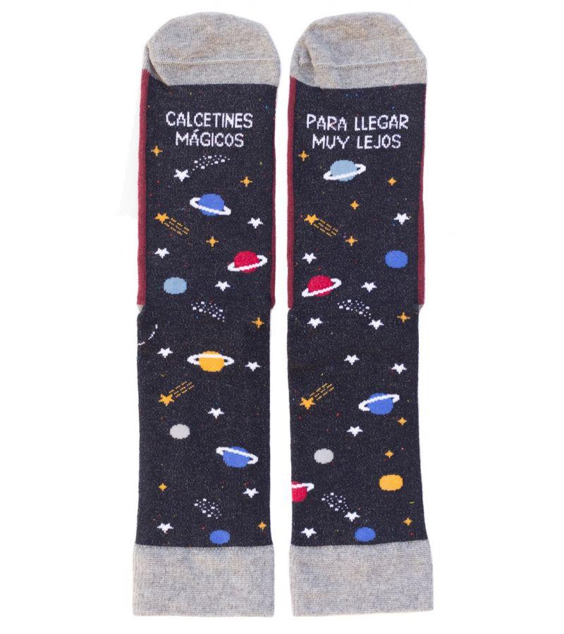 """Calcetines """"Mágicos para llegar muy lejos"""" Espacio"""
