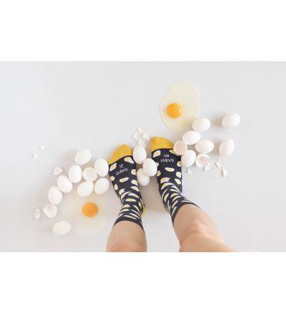 """Calcetines """"Te quiero un huevo"""" Gris"""