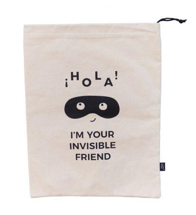 """Bolsa tela regalo """"Amigo invisible"""""""